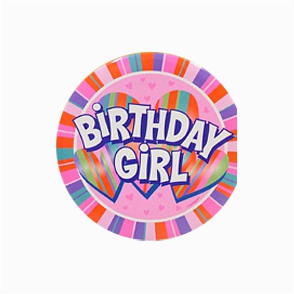 jumbo birthday girl button p17004