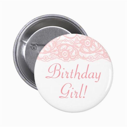 pretty in pink birthday girl button 145155333718978217
