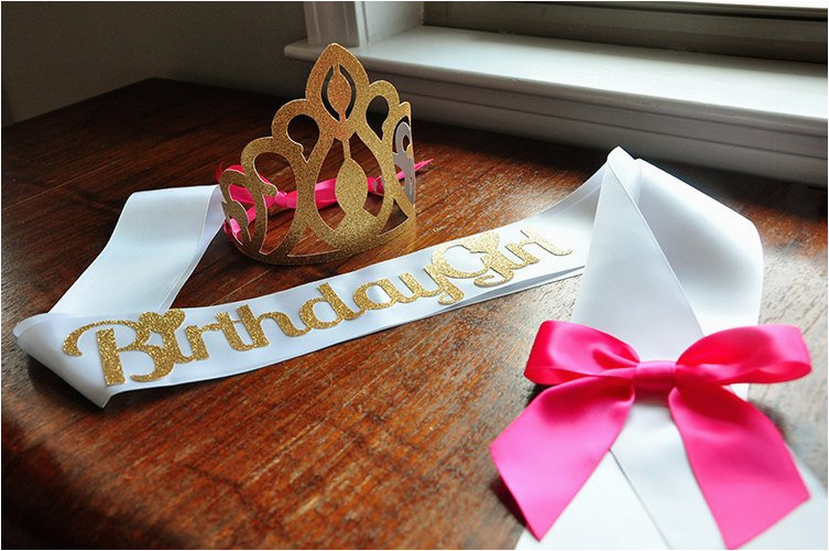 birthday crown and sash set handcrafted