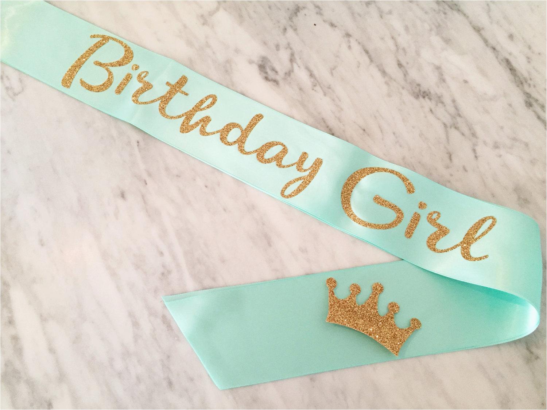 birthday sash birthday girl sash mint utm source pinterest amp utm medium pagetools amp utm campaign share