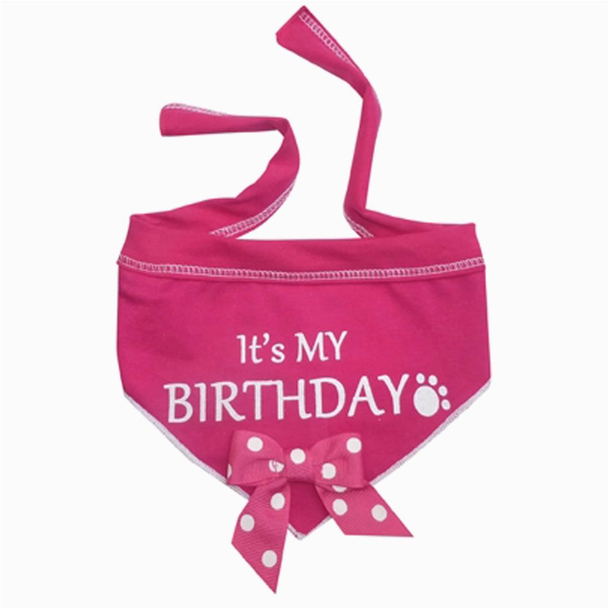 its my birthday dog bandana scarf pink