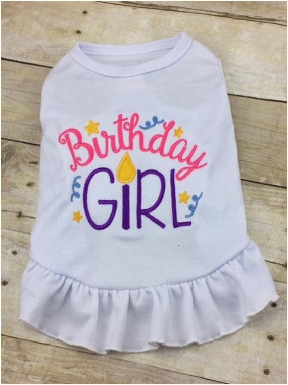 Birthday Girl Dog Shirt Birthday Girl Dog Dress or Tshirt Custom Monogrammed Party