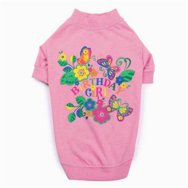 zack zoey spring garden birthday girl dog t shirt