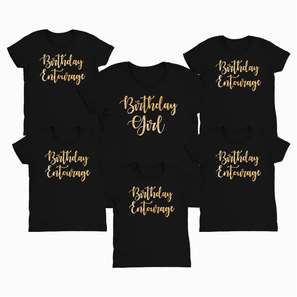 birthday entourage shirt birthday girl