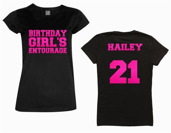 birthday girls entourage shirt