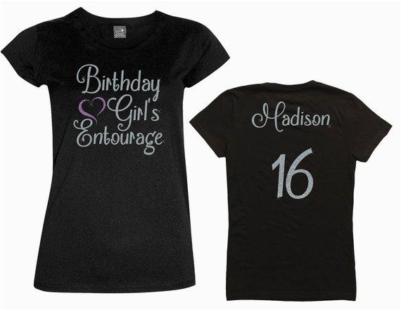 birthday girl entourage shirt with heart