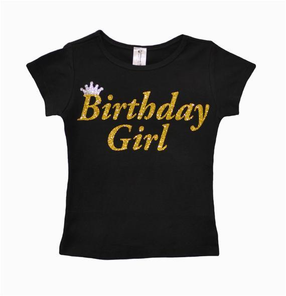 birthday girl shirt party t shirt black