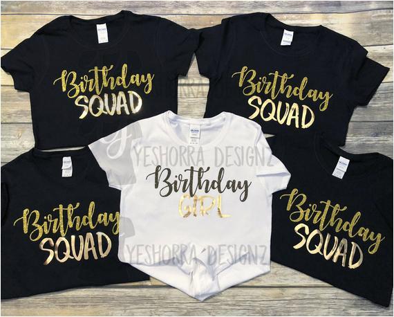 birthday squad shirts birthday party