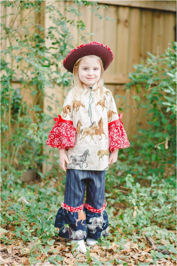 cowgirl birthday outfit girls ruffle