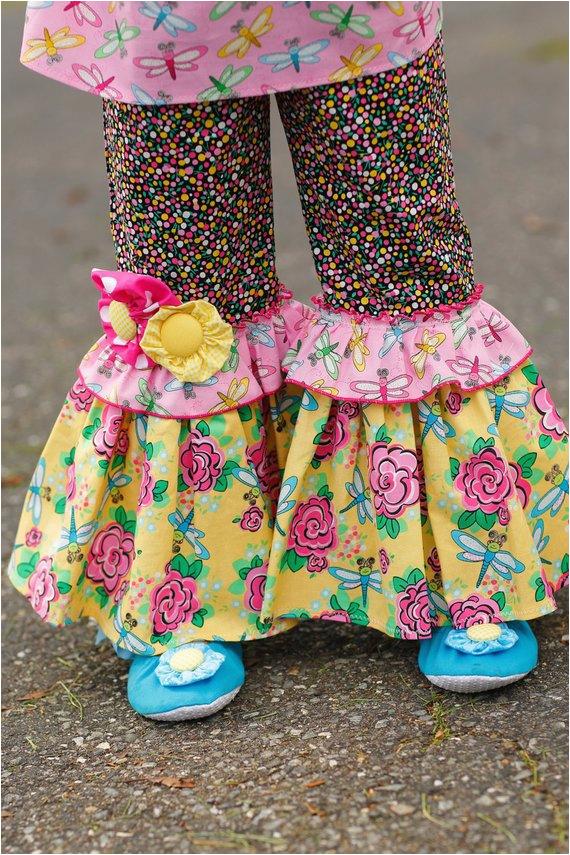 girls ruffle pants outfit birthday