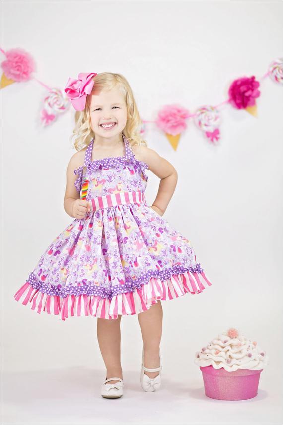 girls unicorn birthday dress girls