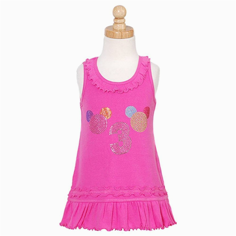 3pearlskids pink rhinestone balloon girls 3rd birthday dress 3t 4t