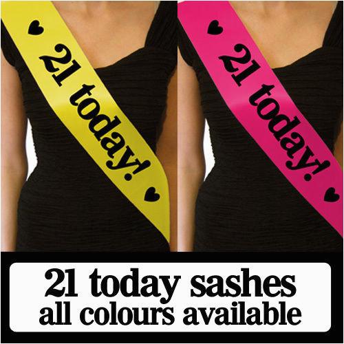 luxury 21 today birthday sash gift for