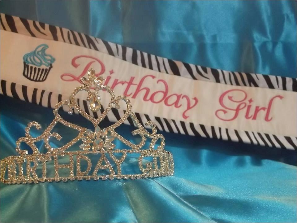birthday girl sash and tiara
