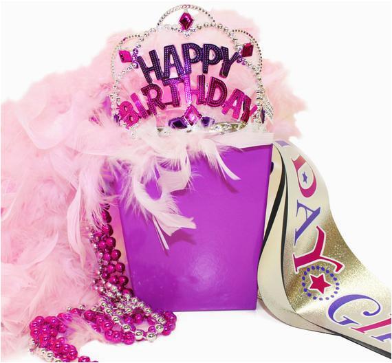 birthday girl gift set birthday sash