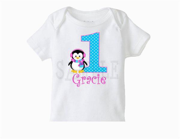 girls penguin birthday t shirt