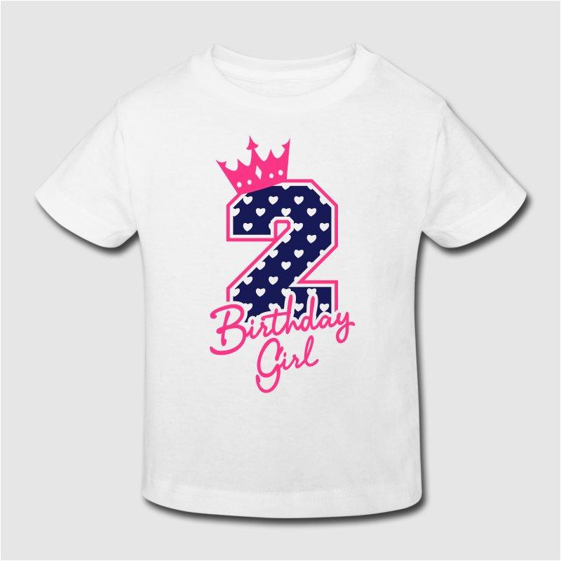 Birthday Girl T Shirt Designs Zweiter Geburtstag Second Birthday Birthday Girl T Shirt