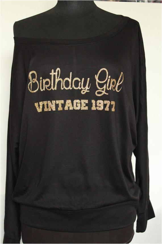 birthday girl vintage1977 shirt top