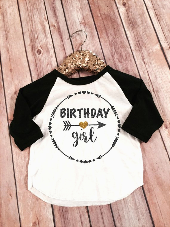 birthday girl black and gold sparkle