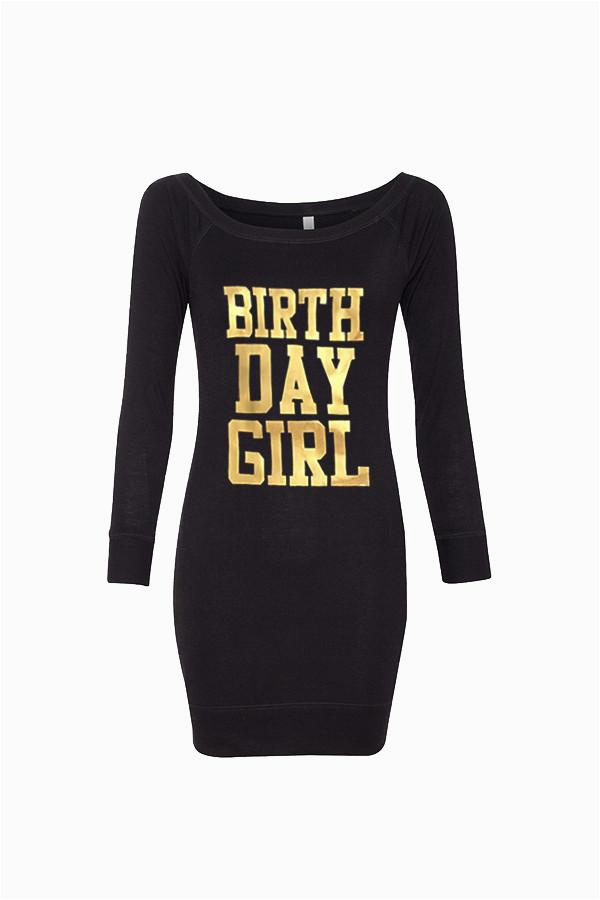 gold birthday sweater dress