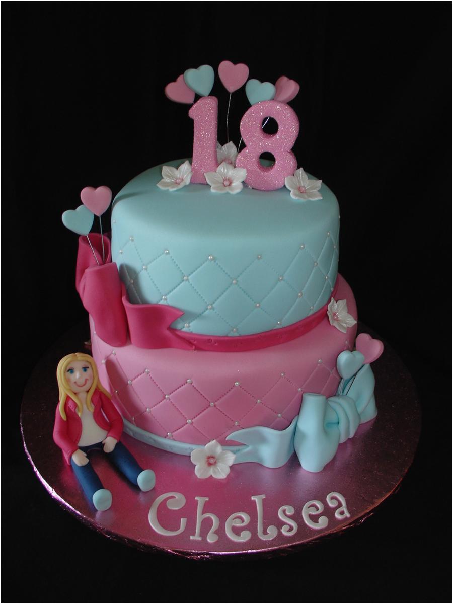 18th birthday fondant cake
