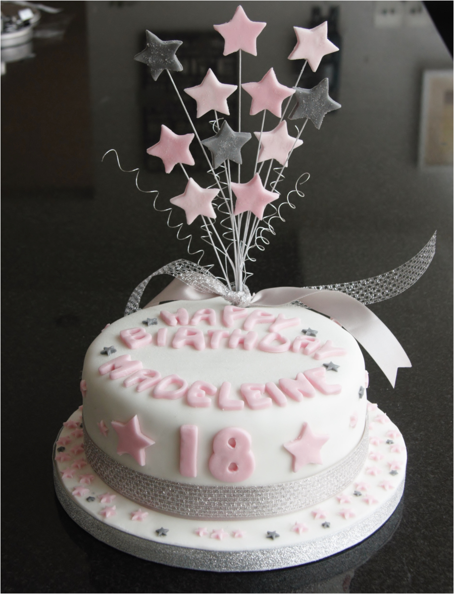18th birthday star cake and cupcakes