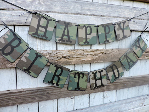 camo banner happy birthday camo happy