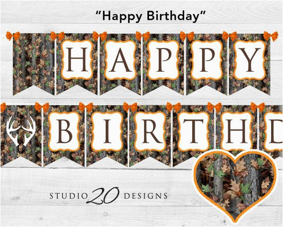 instant download camo happy birthday