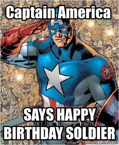 happy bday from captain america