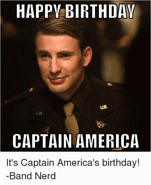 happy birthday us captain america its captain americas birthday band 2091000