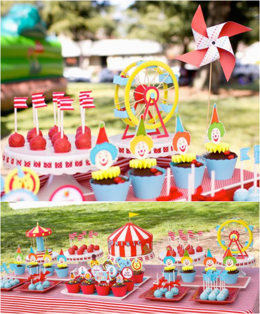 circus themed 1st birthday party 2