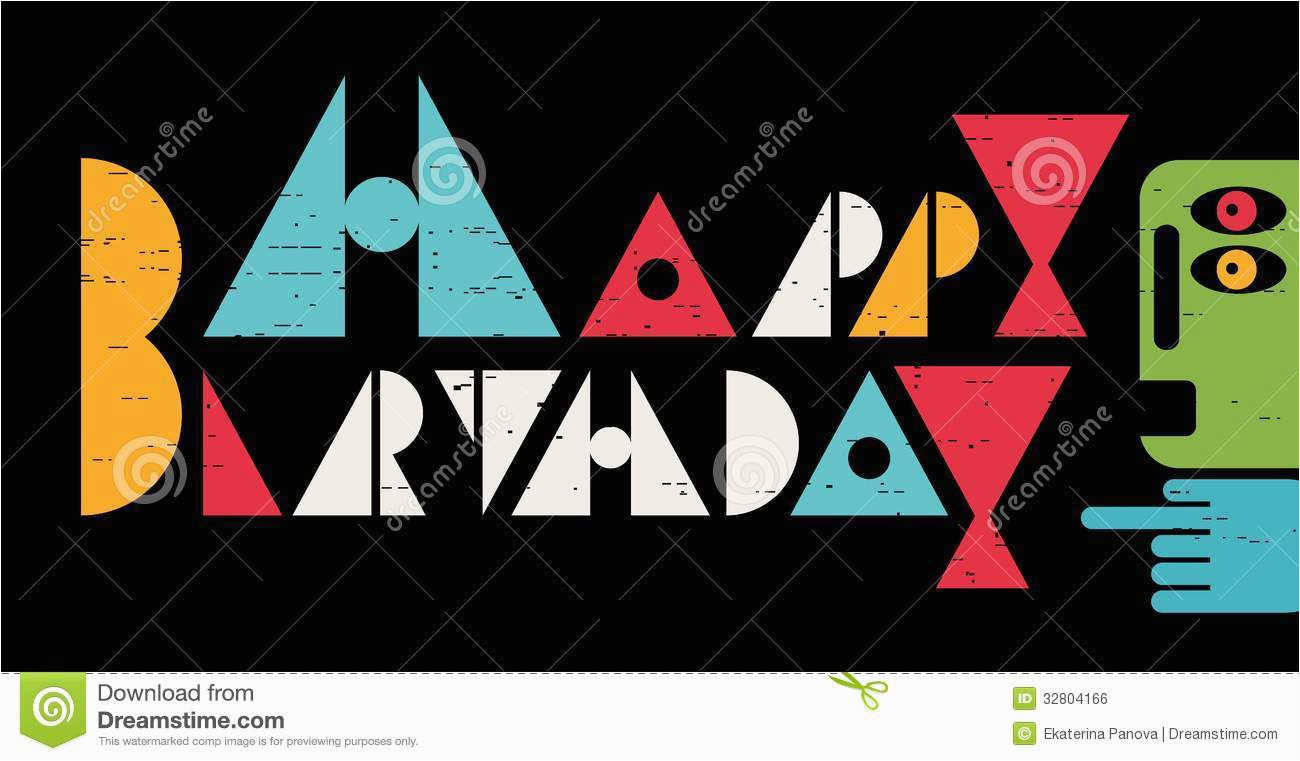 royalty free stock image happy birthday inscription cool letters card vector banner your greetings image32804166
