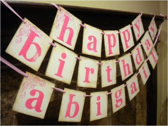 happy birthday banner customized with