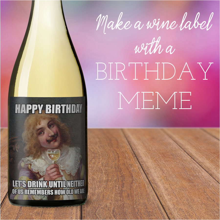 how to make a meme wine label
