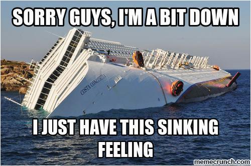 depressed cruise ship