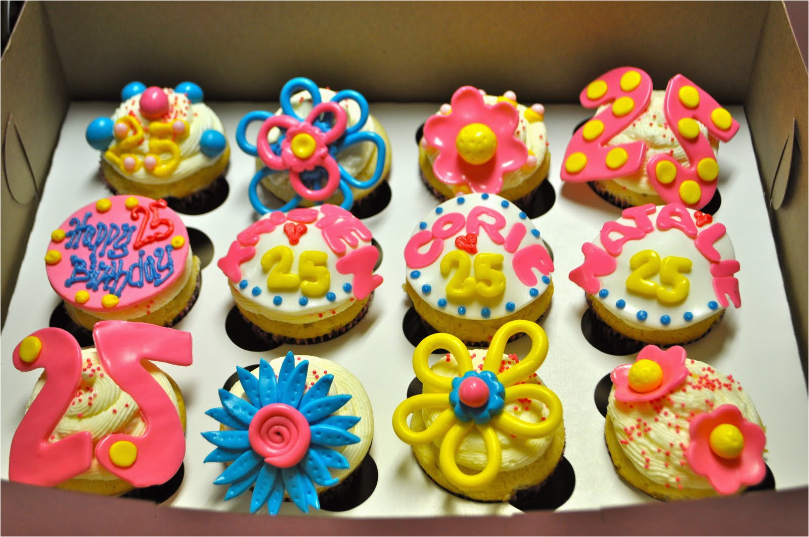 25th birthday cupcakes