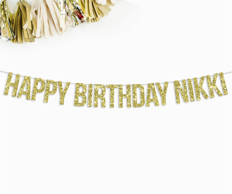 custom happy birthday banner custom