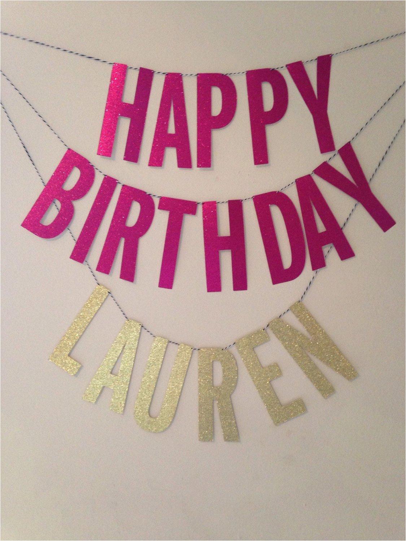 happy birthday banner custom name sweet