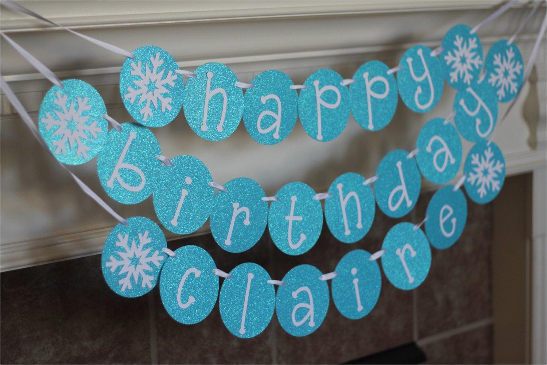 personalized snowflake happy birthday