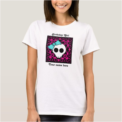 cute gothic skull birthday birthday girl t shirt 235495191202168578