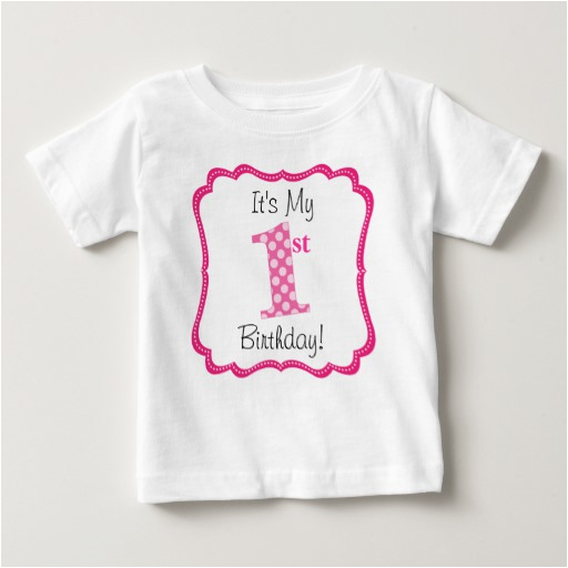 cute pink girls first birthday infant t shirt 235899809872103743