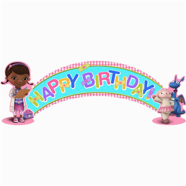 Doc Mcstuffins Happy Birthday Banner Doc Mcstuffins Birthday Banner This Party Started