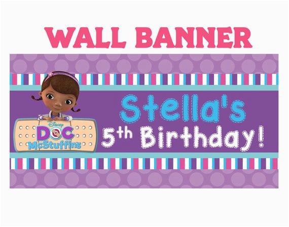 doc mcstuffins happy birthday banner