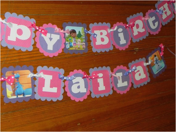doc mcstuffins birthday banner and name