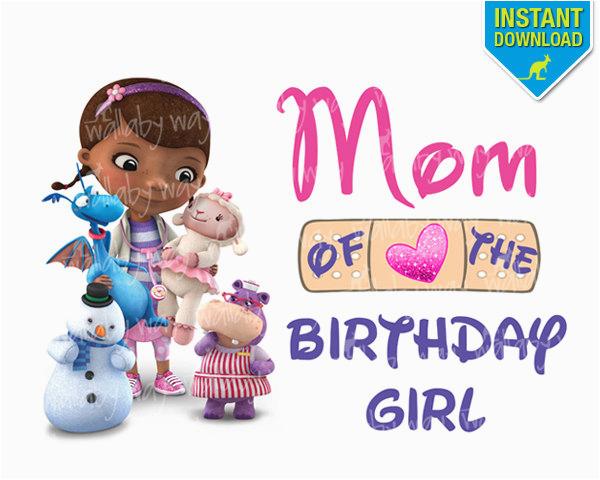 doc mcstuffins birthday mom of birthday