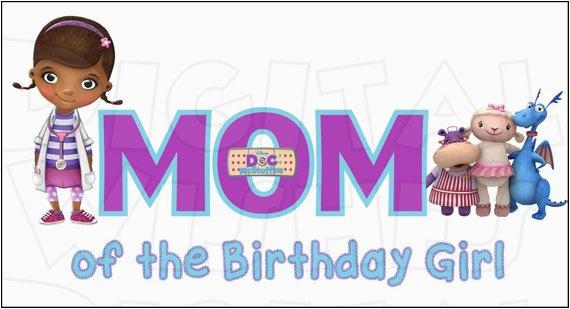doc mcstuffins mom of the birthday girl