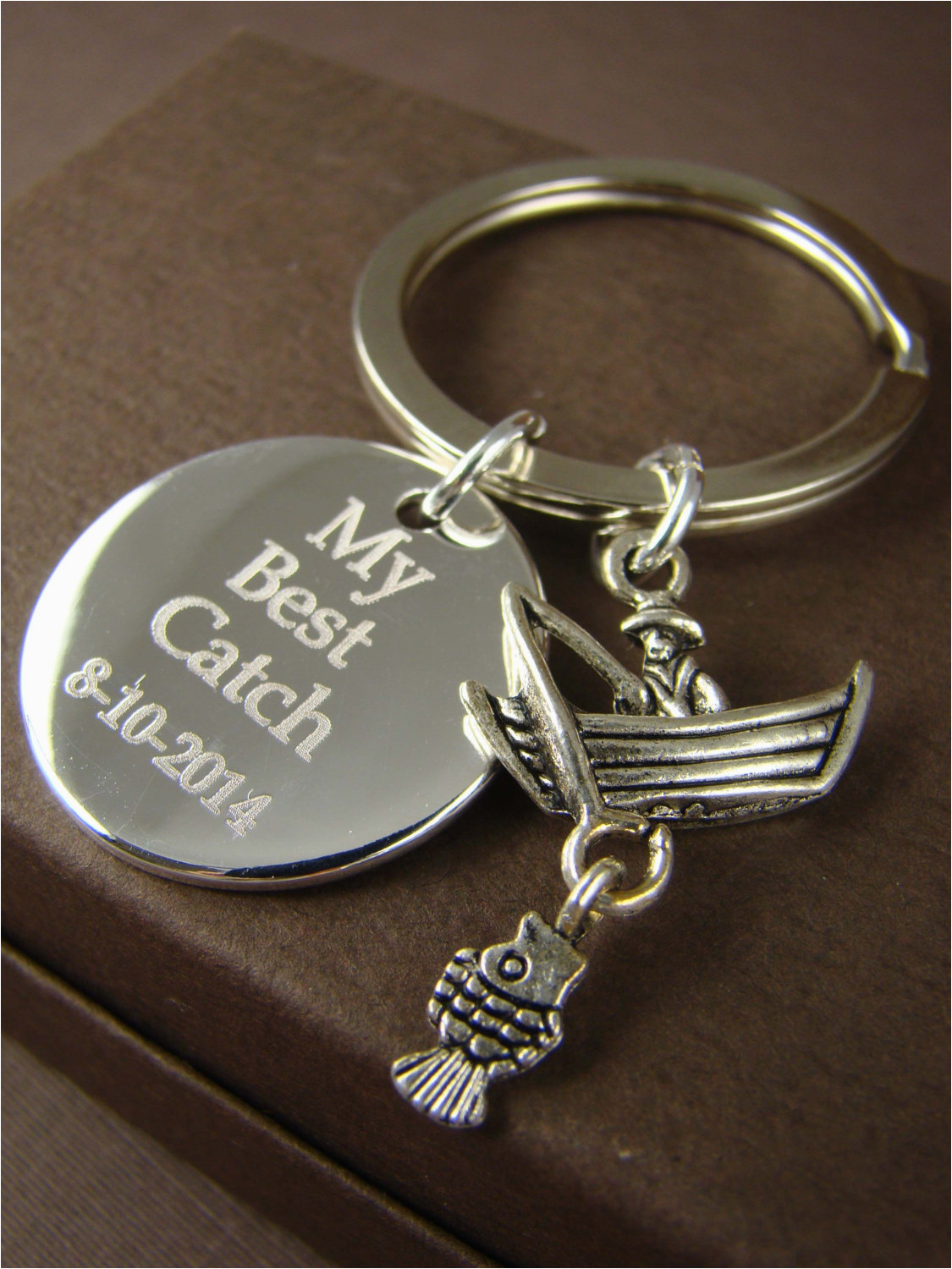 gift for him personalized fishing key