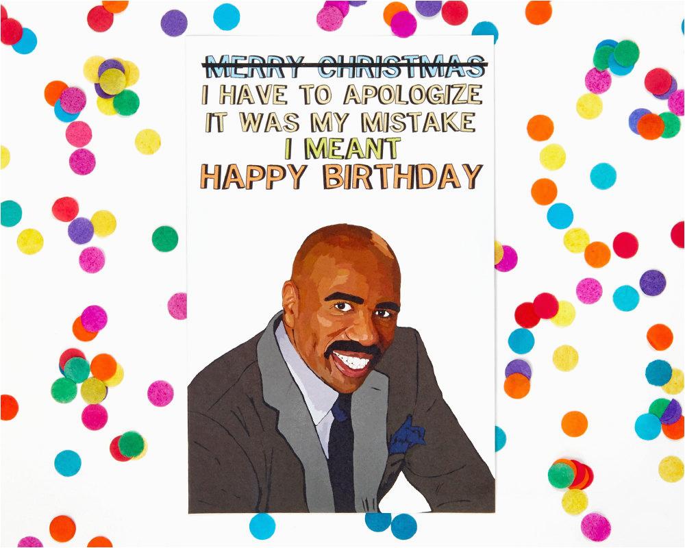 Ex Husband Birthday Meme Steve Harvey Funny Card Humor Silly