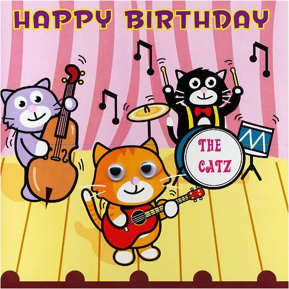 Free Funny Musical Birthday Cards Happy Cat Greetings Download