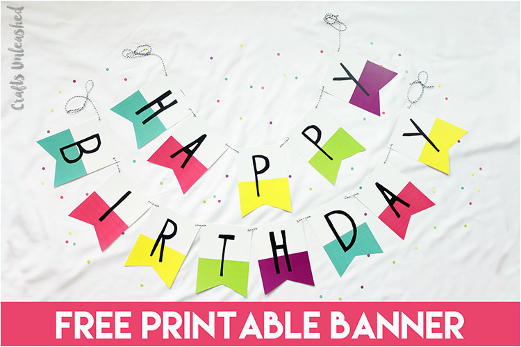free printable banner birthday